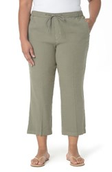 Nydj Plus Size Women's Jamie Wide Leg Crop Pants Sergeant Olive