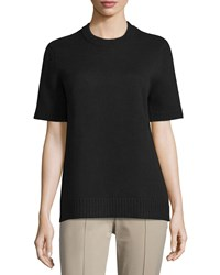 Michael Kors Short Sleeve Slim Fit Cashmere Tee Black Women's