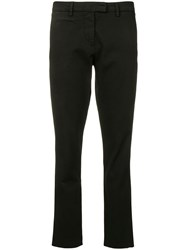 Peuterey Cropped Skinny Trousers Black