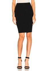 Alexander Wang T By Rib Midi Skirt In Black