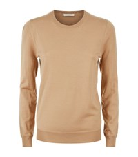 Burberry Merino Wool Elbow Patch Sweater Female Camel
