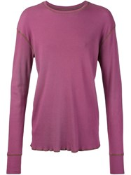 321 Longsleeved Ribbed T Shirt Pink And Purple