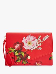 Ted Baker Floore Leather Clutch Bag Multi