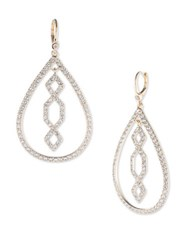 Ivanka Trump Crystal And 10K Gold Plated Tear Drop Earrings