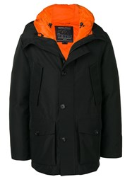 Woolrich Padded Buttoned Jacket Black