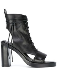 Ann Demeulemeester Open Toe And Heel Ankle Boot Black
