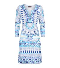 Hale Bob Beaded Tunic Dress Blue