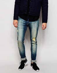 Loyalty And Faith Distressed Skinny Jean Tint Wash Blue