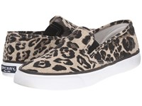Sperry Seaside Animal Tan Leopard Women's Slip On Shoes Animal Print