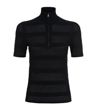 Sandro Cole Mesh Knit Top Female Black