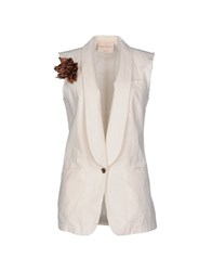 Erika Cavallini Semi Couture Erika Cavallini Semicouture Suits And Jackets Blazers Women Ivory