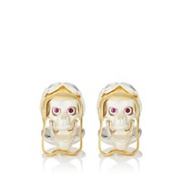 Deakin And Francis Aviator Skull Cufflinks Gold