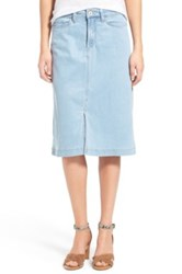 Nydj Evelyn A Line Chambray Skirt Blue
