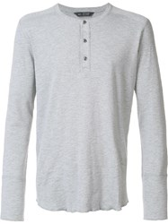 Wings Horns Long Sleeved Henley Cotton
