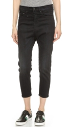 R 13 The Drop Ankle Jeans Black