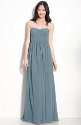 Women's Jenny Yoo 'Aidan' Convertible Strapless Chiffon Gown Turkish Blue