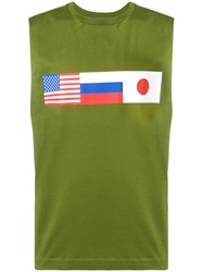 Gosha Rubchinskiy Sleeveless Flag Tee Green