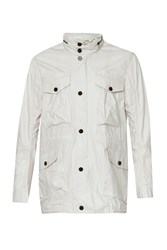 French Connection Men's Wolfram Coated Cotton Jacket Frost