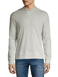 Michael Bastian Honeycomb Heathered Hoodie Heather Grey