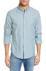 Bonobos Men's Slim Fit Chambray Sport Shirt Vintage Fern