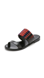 Dannijo Nella Toe Ring Sandals Black