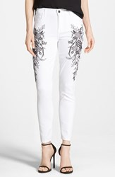 Women's Cj By Cookie Johnson 'Wisdom' Embroidered Ankle Skinny Jeans Optic White