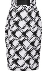 Raoul Printed Ramie And Cotton Blend Pencil Skirt White