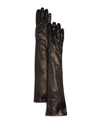 Bloomingdale's Long Leather Gloves Brown