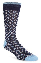 Lorenzo Uomo Men's Diamond Socks