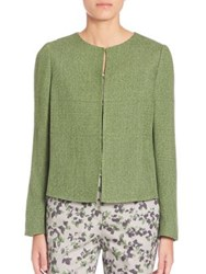 Armani Collezioni Light Tweed Jacket Green