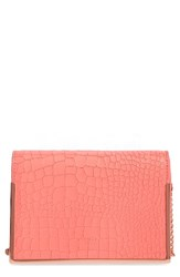 Ted Baker London Leather Crossbody Bag Pink Light Red