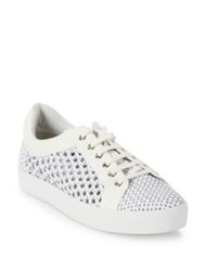 Joie Duha Woven Leather Sneakers Latte