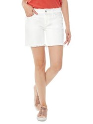 Sam Edelman Derby Bermuda Denim Shorts Optic White