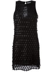Cacharel Scale Effect Dress Black