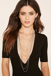 Forever 21 Longline Chain Layered Necklace