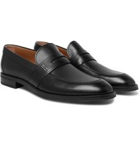 Hugo Boss Coventry Leather Penny Loafers Black