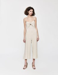 Stelen Toni Bow Front Jumpsuit In Cream
