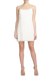 1.State Eyelet Racerback Shift Minidress White