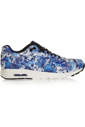 Nike Air Max 1 Ultra Floral Print Leather Sneakers Blue