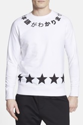 Eleven Paris 'Fix Tycal' Graphic Crewneck Sweatshirt White