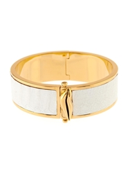 Diane Von Furstenberg Frankie Crocodile Effect Leather Cuff