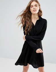 Noisy May Debby Asymetric Shirt Dress Black