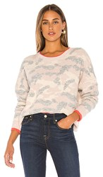 Central Park West Brussels Pullover Sweater In Pink Cream. Blush Combo