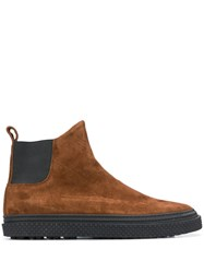 Buttero Suede Chelsea Boots Brown