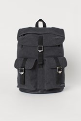 Handm H M Cotton Canvas Backpack Black