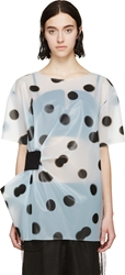 Marc By Marc Jacobs Blue Plastic Misty Blouse
