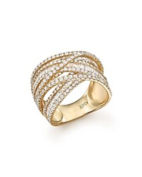 Bloomingdale's Diamond Baguette And Round Statement Ring In 14K Yellow Gold 2.70 Ct. T.W. White Gold