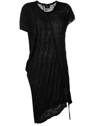 Lost And Found Ria Dunn Draped T Shirt Dress Black