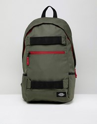 Dickies Ellwood City Back Pack With Skate Straps In Green