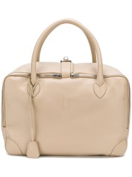 Golden Goose Deluxe Brand Large Zipped Tote Nude And Neutrals